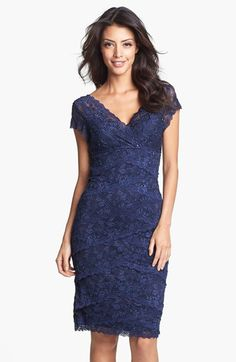 Marina Tiered Lace Dress (Regular & Petite) available at #Nordstrom  [I have two spring/summer weddings coming up. Beautiful. meke]