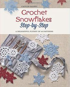 Ribbon Embroidery For Beginners Crochet Snowflakes Step-by-Step: A Delightful Flurry of 40 Patterns for Beginners - Here are two free patterns for lacy crochet snowflakes that can be used to decorate a Christmas tree or gift. Free Crochet Snowflake Patterns, Christmas Crochet Patterns, Crochet Stars, Holiday Crochet, Crochet Snowflakes, Crochet Flowers, Crochet Angels, Crochet Crafts, Yarn Crafts