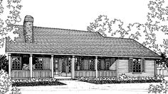Eplans Country House Plan - Two Bedroom Country - 1186 Square Feet and 2 Bedrooms from Eplans - House Plan Code HWEPL70260
