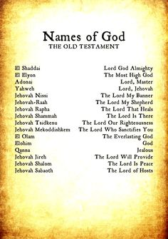 "The ""names"" of YHWH (HaShem, G-d) in the TaNaKh are not ""names"" but are characteristics of HaShem. The TaNaKh is composed of The Torah (""Teaching"", also known as the Five Books of Moses), Nevi'im (""Prophets"") and Ketuvim (""Writings"")—hence TaNaKh]. Praised be His glorious Name forever and ever."