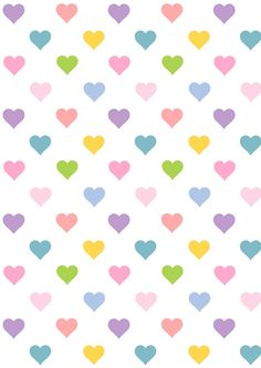 FREE printable heart pattern paper | #kawaii