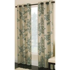 allen & roth Blue Waterbury Curtain Panel from Lowes.  Love love for the living room!