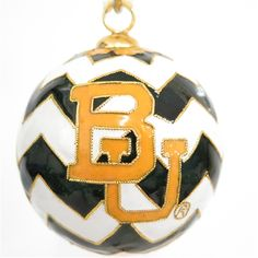 #Baylor University #Chevron Cloisonne Ornament