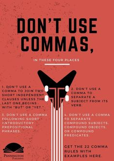 Check out the 22 Comma Rules with examples from Pennington Publishing's Grammar Mechanics Spelling and Vocabulary (Teaching the Language Strand) grades 4 5 6 7 and 8 programs. Time to learn those English grammar rules mechanics language conventio English Grammar Rules, Grammar Tips, Grammar And Punctuation, Teaching Grammar, English Writing Skills, Book Writing Tips, Grammar Lessons, English Vocabulary Words, Writing Words