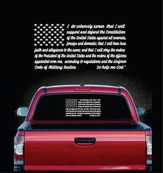 Military Decals - Oath of Enlistment Flag Sticker – Custom Sticker Shop Truck Window Stickers, Vinyl Decals, Flag, Surface, Military, Tumblers, Laptops, Phones, Walls