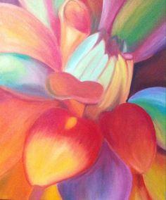 Flore colorida 2013 Pintura al oleo Alumna: Elisa Ruiz (9 años)