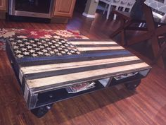 letgo - Thin blue line/coffee table in Port Richey, FL