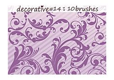 fancy swirly brushes, part 14.  compatible with Photoshop CS and up.  image pack included.  DONATE @ http://bit.ly/gbda6r