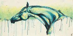Reach horse acrylic on canvas