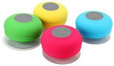 Suction Shower Bath Wireless Bluetooth Music Mini Speaker w/Mic Water Resistant