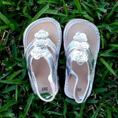 Silver Girls Sandal