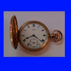 Ww1 mint 14k gold  #garrard 15j hi-grade hunter officers #pocket #watch 1914,  View more on the LINK: http://www.zeppy.io/product/gb/2/272418515181/