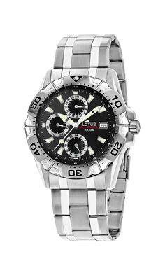 Lotus 15301/6 - Reloj de caballero de cuarzo, correa de acero inoxidable: Amazon.es: Relojes