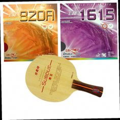 46.29$  Buy here - http://ali6gt.worldwells.pw/go.php?t=32498036625 - Sword SUBDUE blade + Double Fish 1615 and 820A rubber with sponge for a table tennis / pingpong racket