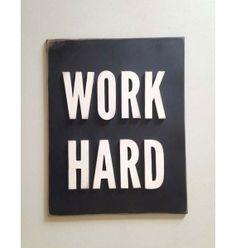 Work Hard Wood Typography Sign #blackfriday #giveaway
