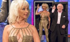 Debbie McGee wears jumpsuit to perform box trick with Paul Daniels