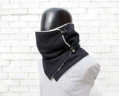 Мужчины шарф. Мужские шарф капюшон, темно-шерсть, искусственный мех ягненка и круглые кнопки . Коренастый, современный и уютный. 38 usd
