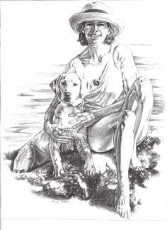 I like doing commissioned pet portraits due to the subject matter and the joy it brings to the pet owner. This client specifically wanted her and her dog rendered. #Art #PetPortraits #CommissionArt #AnimalArt #PencilArt #Pets #BlackAndWhiteArt