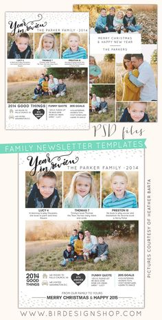 FREE photoshop download + Year in review newsletters   Photoshop templates for photographers by Birdesign