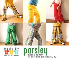 Parsley Pants Sewing Pattern by madebyrae, via Flickr, now available: http://made-by-rae.com/parsley