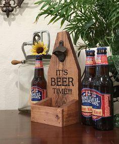 Bottle Cap Catcher Beer Bottle Opener It's Beer Time