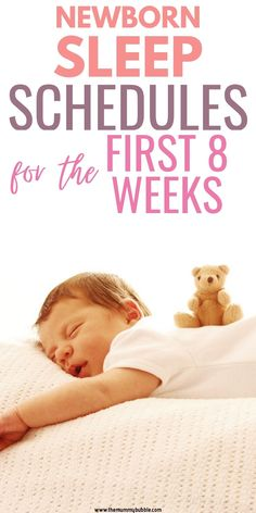 A guide to what your newborn baby's routines will look like over the first 8 weeks. Tips for what to expect with sleep, feeding and play time. Newborn Baby Tips, Baby Sleep Schedule, New Mums, Baby Hacks, 8 Weeks, Having A Baby, Play