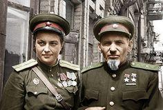 Lyudmila Pavlichenko and Sydir Kovpak