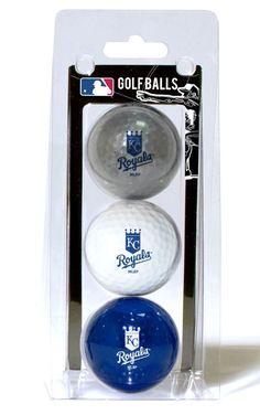 Kansas City Royals 3 Pack of Golf Balls