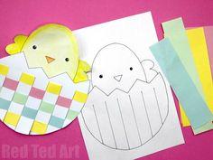 Easter Egg & Chick Paper Weaving