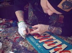 Sign in progress..🖌 by Sign Atelier Leipzig GER. #alwayshandpaint #SignPainter #Lettering #handpainted #handlettering #practicemakesbetter #typewip #typegang #signpainter #practicalpainter...