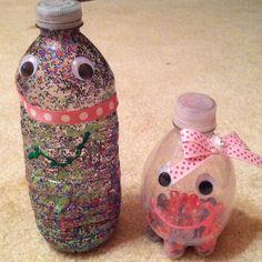 Make water bottle maracas.