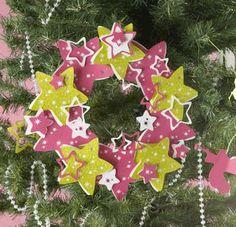 Une magnifique Couronne de Noel à réaliser avec vos enfants #deconoel #decorationnoel