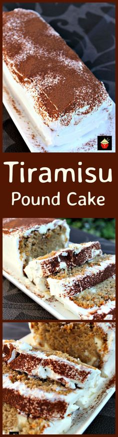 Tiramisu Pound Cake, a soft and delicious pound cake with all the flavors of a Tiramisu! It's even got a mascarpone frosting.  This will go fast so be sure to make two! Check out the cream cheese filling too! YUM!   http://Lovefoodies.com