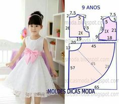 70 Ideas baby dress sewing tuto robe for 2019 Baby Girl Dress Patterns, Dress Sewing Patterns, Little Dresses, Little Girl Dresses, Girls Dresses, Flower Girl Dresses, Fashion Sewing, Fashion Kids, Costura Fashion