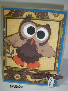 Cards, Stampin' Up, Owl Cards