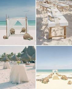 Pour une décoration de mariage thème mer, voici des accessoires et des décorations naturelles de plage. Grace a ces décors originaux et esprit nature, votre mariage au bord de l'eau sera un petit c…