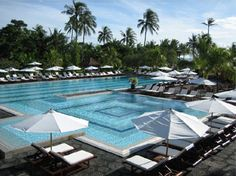 Club Med Bali, Indonesia - where Ethan learned to swim - 2001