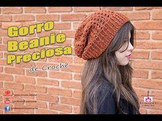 Gorro de Crochê Beanie Preciosa - Professora Simone