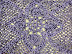 Crochet: Cuadrado con Piñas - YouTube