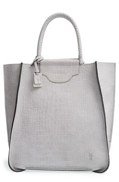 Frye 'Bianca' Croc Embossed Suede Tote available at #Nordstrom