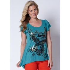 'Millers' Graphic Print Sharkbite Tunic. Sale $16.00