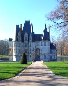 Chateau D'O, Normandy, France. You could fish out of your bedroom window!