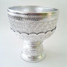 Schale Thaischale Aluminium Tischkultur Kan Pan Roong silber 22cm