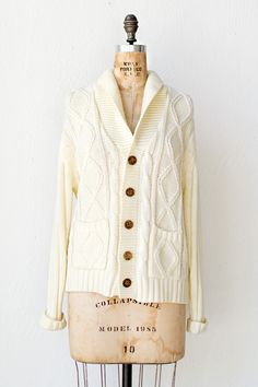 vintage 1970s cardigan | 70s sweater | Coast Dunes Sweater $58