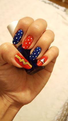 Wonder woman nails!