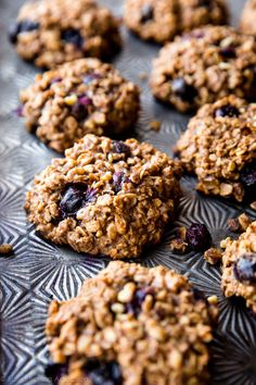 Try my soft oatmeal raisin cookie granola bars next. Good morning! Sunshine! Don't these cookies sort of look like blueberry muffin tops? They don't taste like muffin tops at all, but the resemblance makes me happy. You know what else makes me happy? They're actually pretty good for you with zero refined sugar, plenty of wholesome …