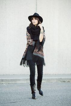 wearing: gap jeans, zara slip & kimono, pendleton hat