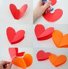 Guirnalda-de-corazones-de-papel Paper Crafts, Diy Crafts, Ideas Para Fiestas, Quilling, Plastic Cutting Board, Valentines, Birthday, Christmas, Design