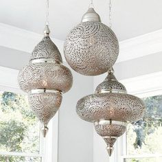 Looking for a stylish Moroccan Pendant Lighting Set? Shop Ballard Designs for yo. - Looking for a stylish Moroccan Pendant Lighting Set? Shop Ballard Designs for your perfect new Moro - Moroccan Decor Living Room, Moroccan Home Decor, Moroccan Lamp, Moroccan Lanterns, Moroccan Interiors, Moroccan Design, Moroccan Style, Moroccan Kitchen, Morrocan Chandelier