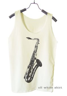 Saxophone Shirt Jazz shirt music tank top women shirt by teesmile, $15.00